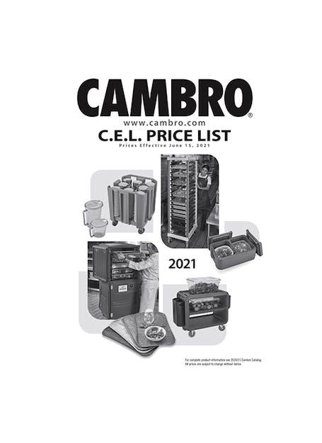 C.E.L. Price List 2021 Euro