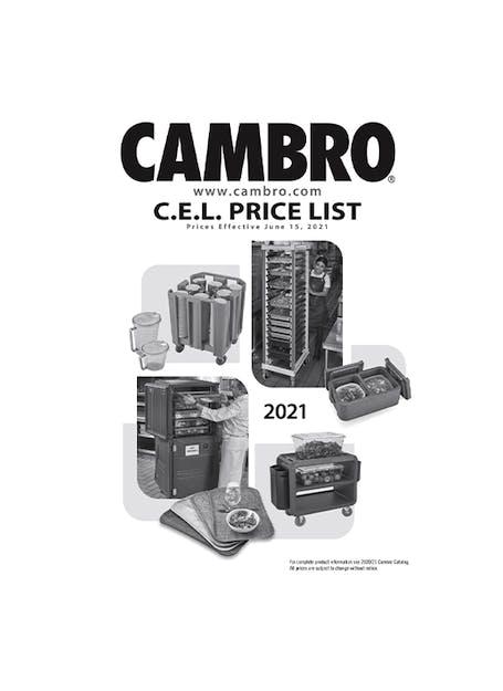 2021 C.E.L. USD Price List