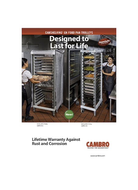 Camshelving® GN 1/1 Food Pan Trolley