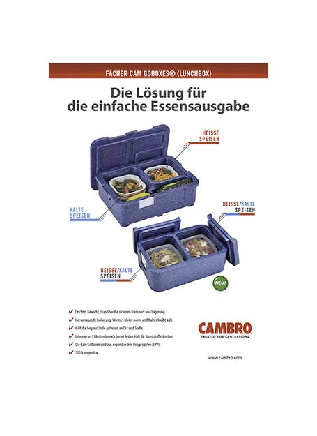 Cam GoBox® Meal Delivery Boxes
