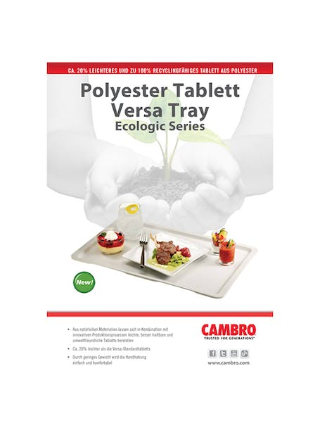 Versa Tray Ecologic Series